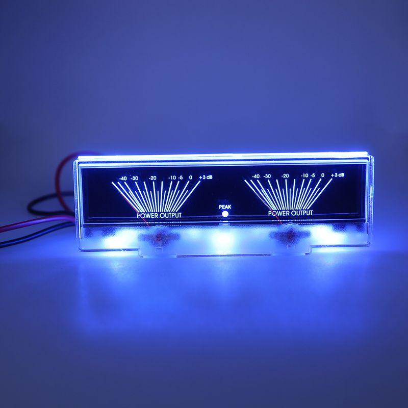AMPLIFICADOR DE POTENCIA de Panel de doble analógica, medidor de Audio de nivel dB con retroiluminación
