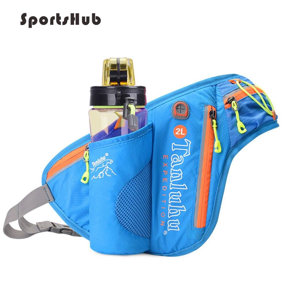 Riñonera deportiva con soporte para botella con cintura reflectante para Camping/senderismo/Pesca-riñonera deportiva SB0027
