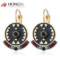 classic fashion jewelry ful crystal beads enameling clip earrings boho ethnic jewelry women femme gift