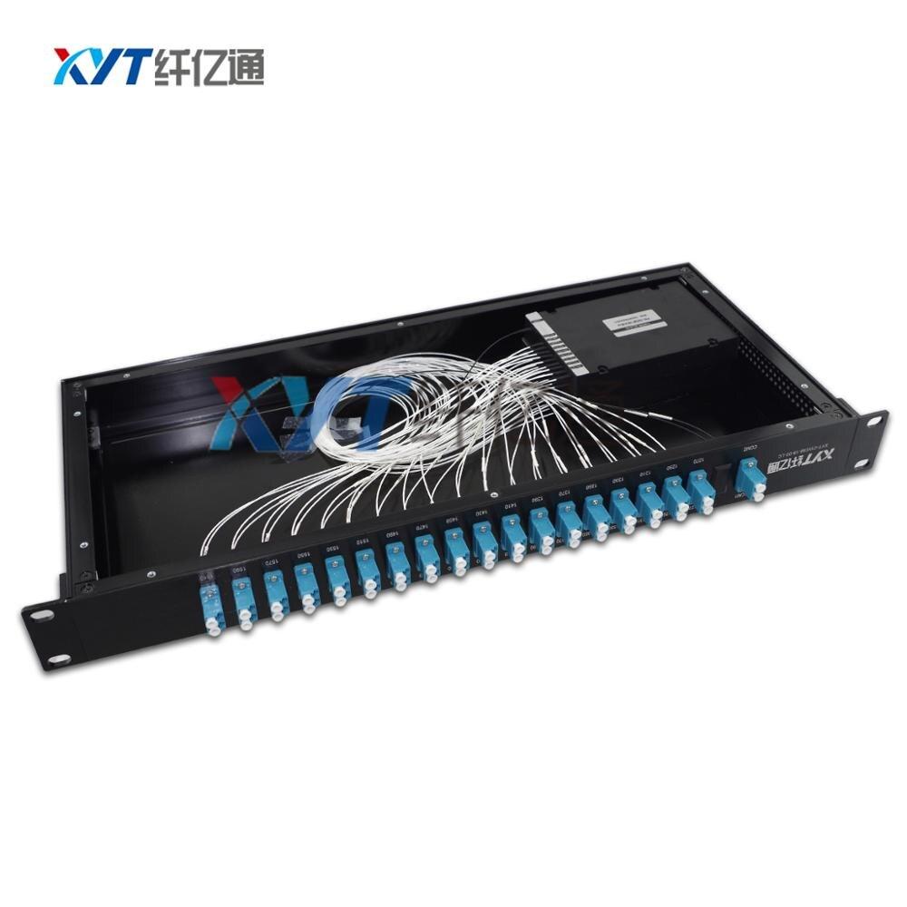 dual fiber rackmount cwdm euipment 8 channel (2 input 16 output) CWDM MUX DEMUX