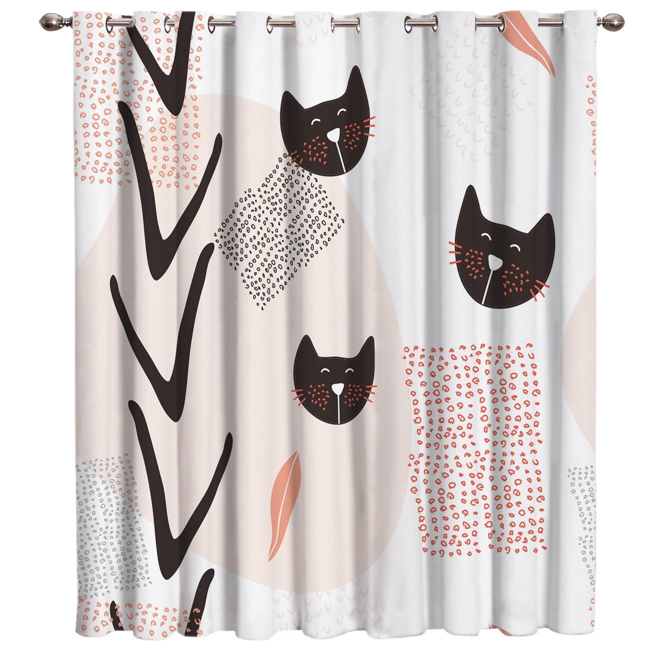 Mordern kawaii cat kitty natureza cortinas da janela escuro do banheiro cozinha quarto ao ar livre indoor tecido