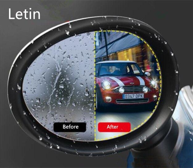 Letin película de espelho retrovisor, para mini cooper r55 r56 r57 r61 f54 f55 f56 r60 f60, anti-chuva adesivo à prova dágua