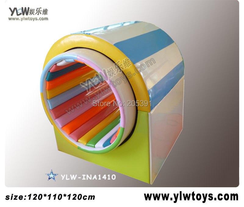 Parque de Atracciones para niños centro de juegos, el juego del túnel del tiempo para los parques suaves de los niños YLW-INA1410