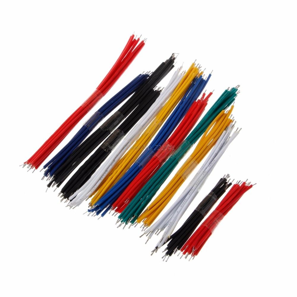 130 шт., набор кабелей для перемычки 24awg, 13 значений, двойные луженые, цветные, Прямая поставка