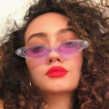Steampunk ladies fashion  small face oval men sun glasses cat brand design UV400 vintage 2018 new wa