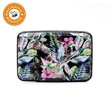 BONAMIE Aluminum Wallet RFID Blocking Slim Metal Business Credit Card Holder Cool Rainforest Prints Women Card Case New Arrival