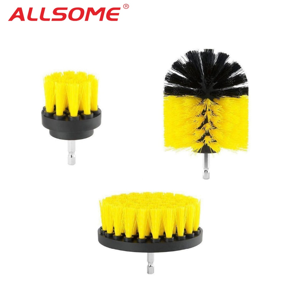 Электрическая дрель ALLSOME, набор кистей для шлифовки плитки, Scrubber сверло для очистки нейлоновых кистей, набор для чистки ванн, инструмент для шлифовки древесины +