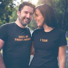 Elle est ma patate douce T-Shirt I Yam unisexe correspondant chemise Couples chemise mari femme t-shirts patate douce sa sienne LGBT chemise