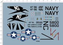 Detail Up 172 Scale USAF F-4J Phantom II VF-96 Fighter Model Water Slide Decal