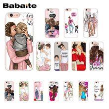 Babaite Mode Braun Haar Baby Mama Mädchen Königin Telefon Fall für iphone 11 Pro 11Pro Max 8 7 6 6S Plus X XS MAX 5 5S SE XR