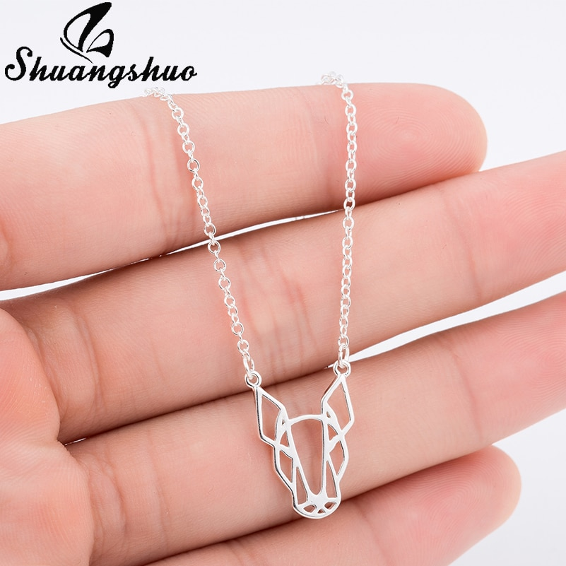 Ожерелье для женщин Shuangshuo, милое ожерелье в виде животных, бултерьер, собаки, ожерелье с подвеской в виде животных и кулонами, товары для маленьких животных, корейский стиль