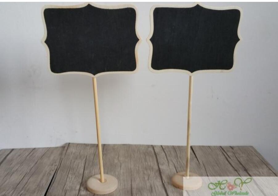 4pcs/lot 325*162mm  Zakka Direction signs wooden Blackboard For children birthday Wedding Party chalkboards Message board