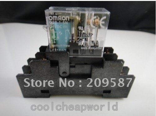 1 juego G2R-2-S 12 VDC relé DPDT con enchufe