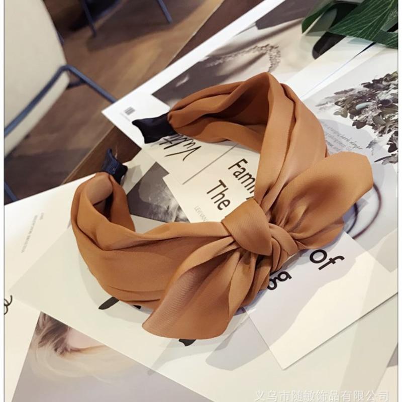 Wholesale Hair Accessories for Women Top Knot Headband Elastic Turban Non Slip Hairband