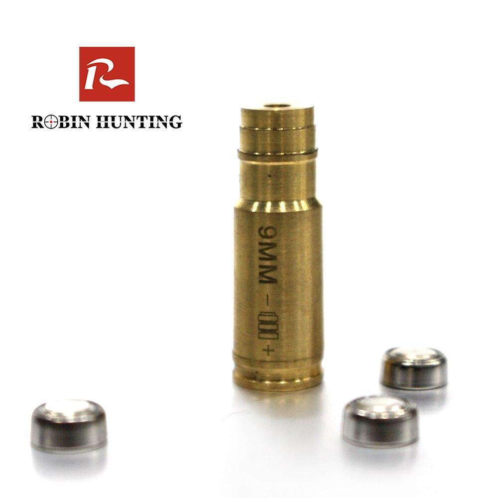 Robin Hunting CAL.9MM perfore Sighter rojo calibre cartucho láser cartucho cobre perforada mira para el aire arma escopeta de caza accesorio