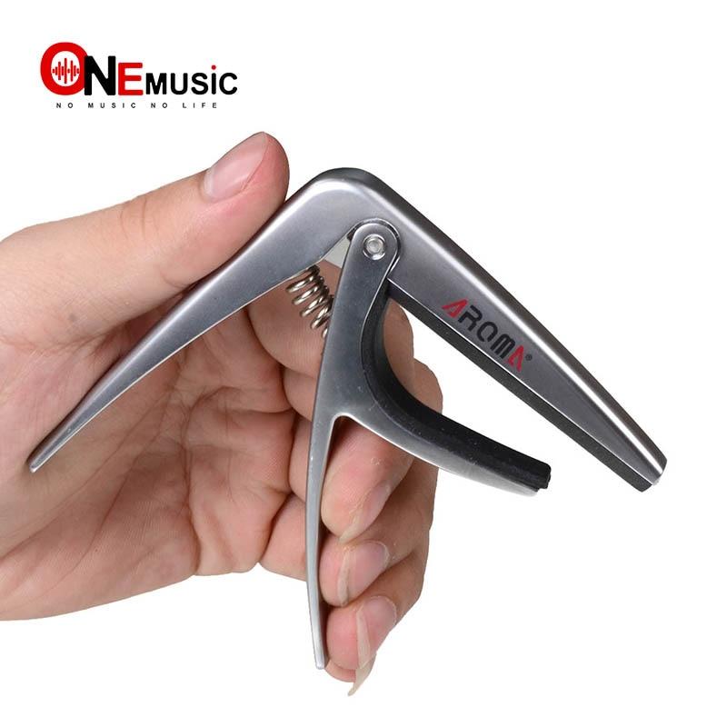 Арома AC-02 серебро Металл Классическая гитара Capo силиконовые подушки Размеры