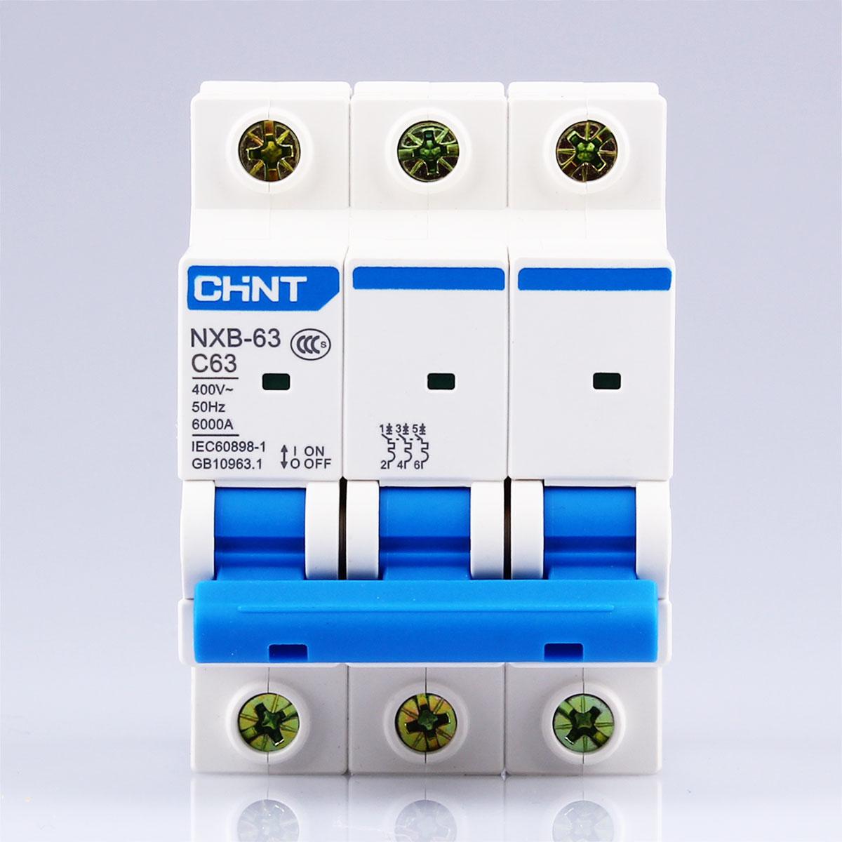 CHNT CHINT NXB-63 3P 1A 2A 3A 6A 10A 16A 20A 25A 32A 40A 63A 230V 380V Miniature Circuit breaker MCB NEW DZ47