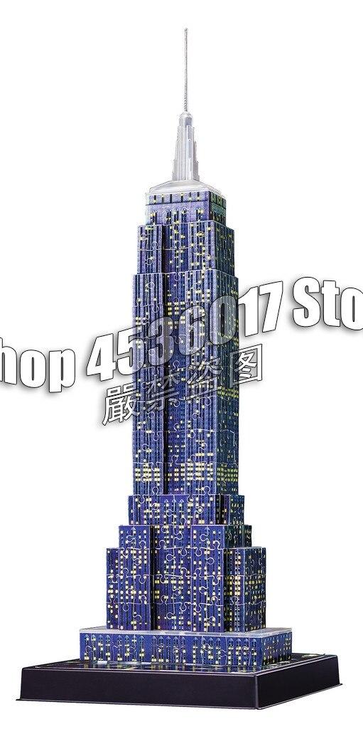 5D DIY Diamond Embroidery Empire State Building Diamond Mosaic Full Decoration Diamond Painting Kit Home Decor Gift Christmas