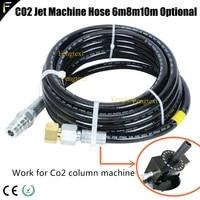 co2 gas colum jet machine 6m 8m 10m resin high pressure hose pipe ewith u 21 4mm us 20 0mm connector custom co2 jet gun hose
