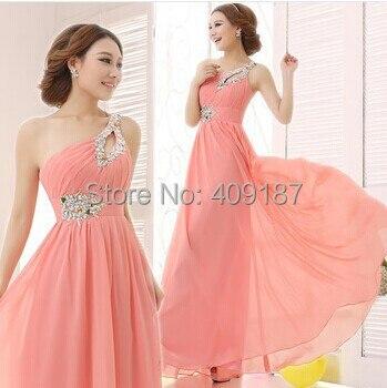 Cheap moda chiffon rosa vermelha céu azul royal roxo azul verde amarelo da dama de honra vestidos