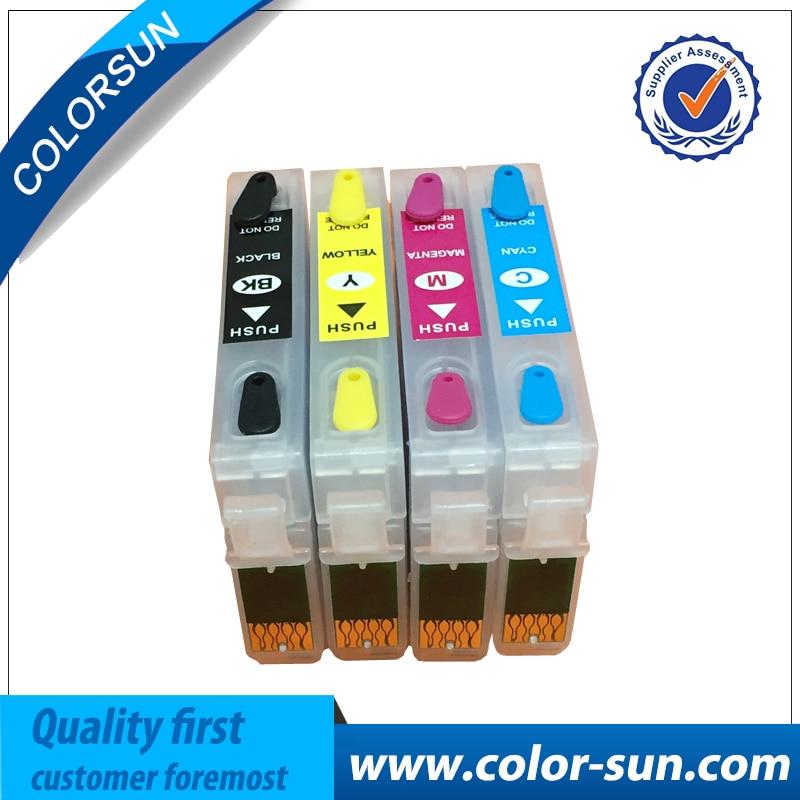 92 92N T0921N-T0924N cartucho de tinta rellenable para Epson T26 T27 TX117 TX119 TX106 TX109 C91 CX4300 impresora con las papas fritas.