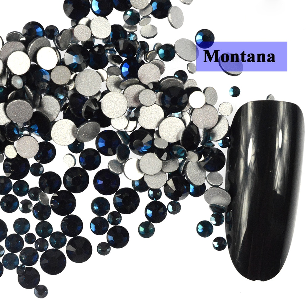 500 unids/pack Montana mezcla tamaño Flatback cristal diamante DIY uñas Rhinestones 3D uña decoraciones Gem Nail Art DIY accesorio TR312
