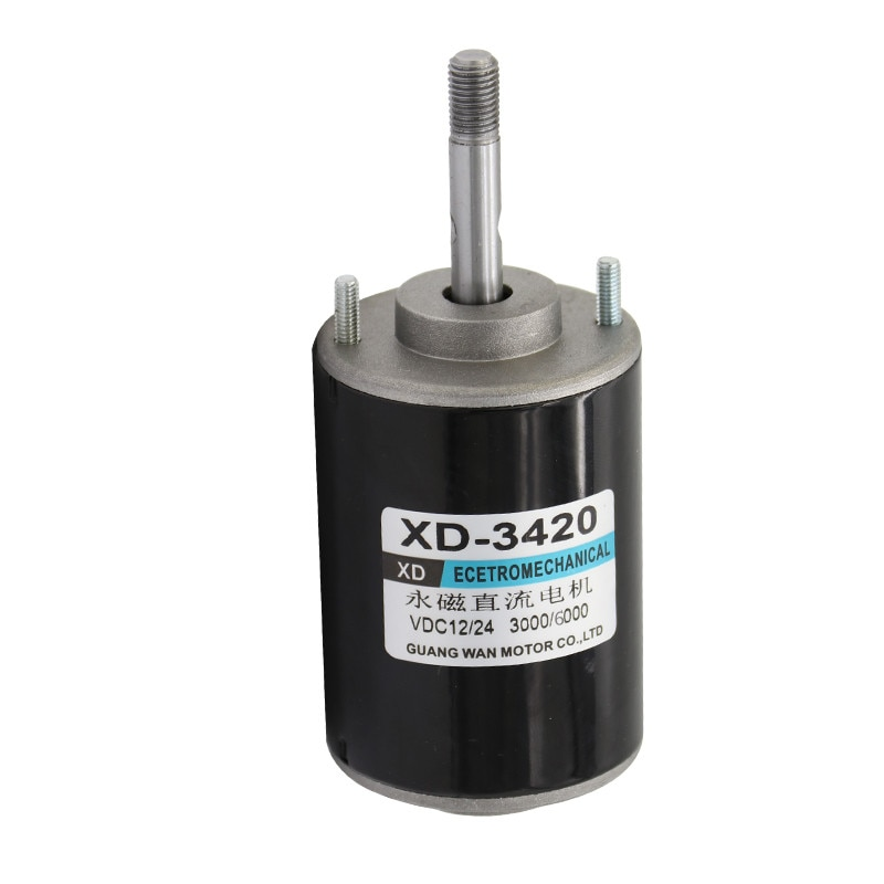 Torque alto ajustável universal do motor da velocidade da c.c. do motor de inversão XD-3420 v/24 v 3000/6000rpm 30 w
