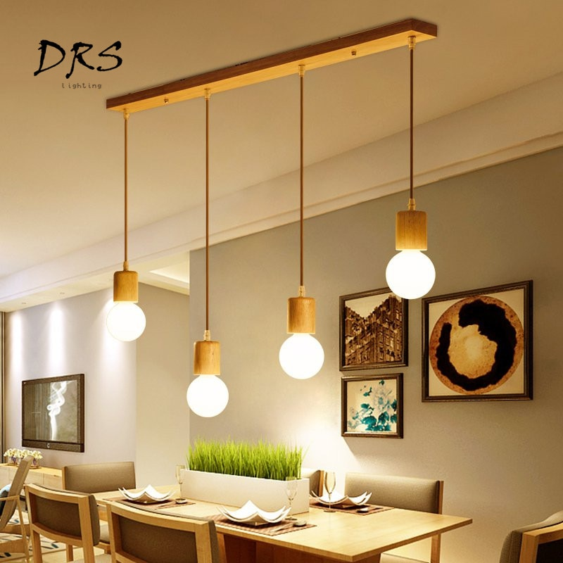 Lámpara de araña de madera nórdica estilo japonés restaurante lámpara personalizada Bar Café comedor salón creativas lámparas y linternas