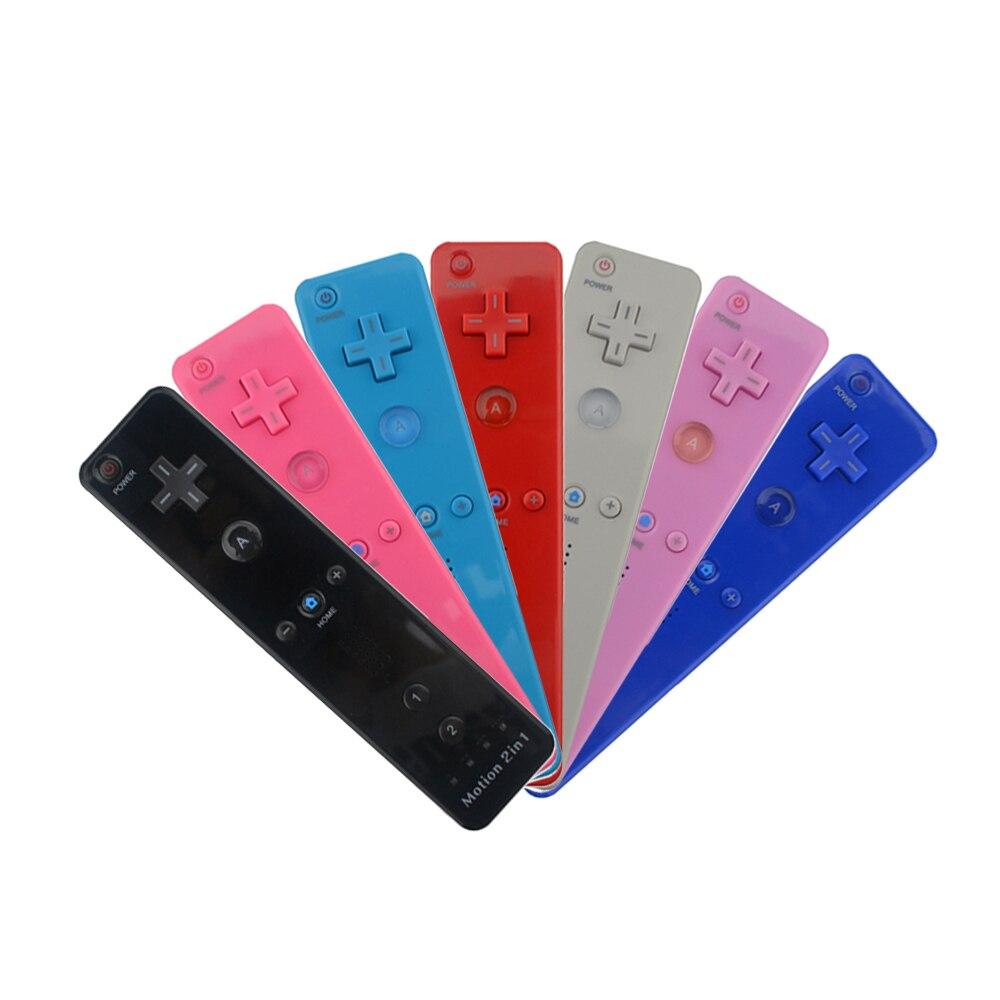 7 colores de movimiento incorporado 2 en 1 para control remoto Wii/jostick para Nintendo Wii mando de videojuegos/joy-pad/controlador con motion Plus