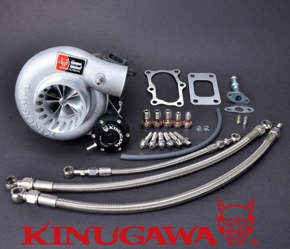 "Kinugawa 9B TW Turbocharger 3"" Anti Surge TD06SL2-25G 8cm T3 for Nissan RB20DET RB25DET Bolt-On"