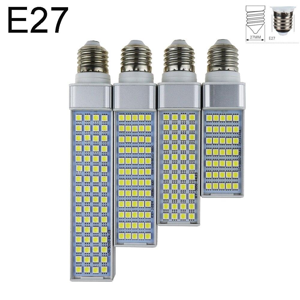 נורות LED 5 W 7 W 9 W 12 W 15 W 16 W E27 G24 LED תירס הנורה מנורת אור SMD 5050 זרקור 180 תואר AC85-265V אור התוספת אופקי