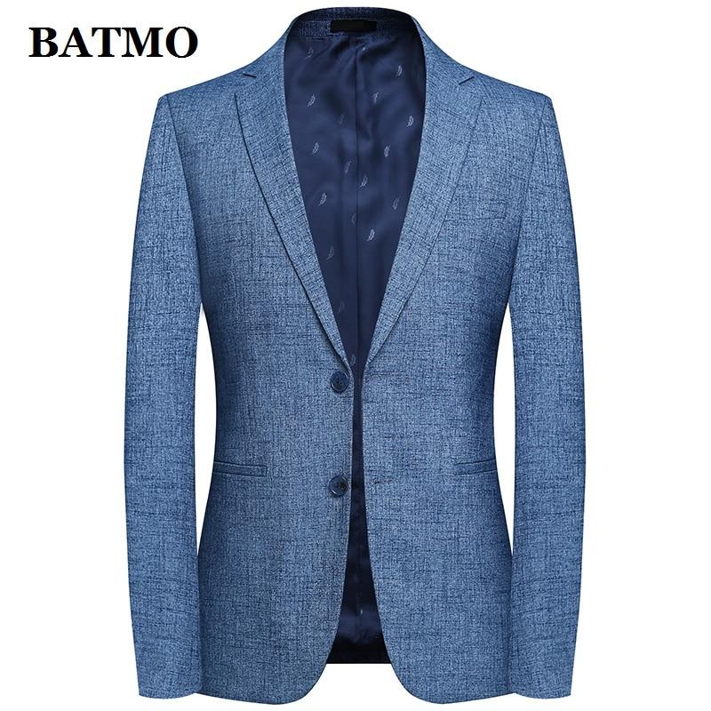 Batmo 2019 new arrival spring high quality smart casual suits men,men's casual blazers,men's jackets plus-size M-4XL 9805