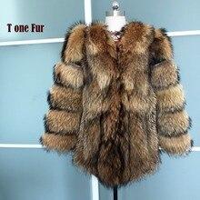 Luxury Thick Warm Winter Real Fox Fur Coat Women Outwear Genuine Pig Leather Fur Jacket Hot Sale KSR68