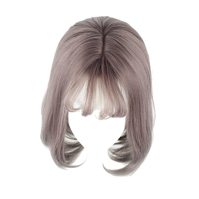 MCOSER 35cm Color corto mezclado explosión de aire sintético Cosplay partido mujeres peluca 100% pelo de fibra de alta temperatura WIG-635D