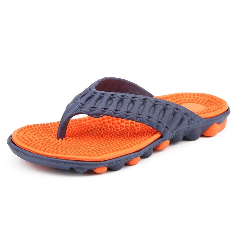 Chanclas nuevas zapatillas de hombre Slip talla grande dedo del pie remolcado zapatos de playa transpirables