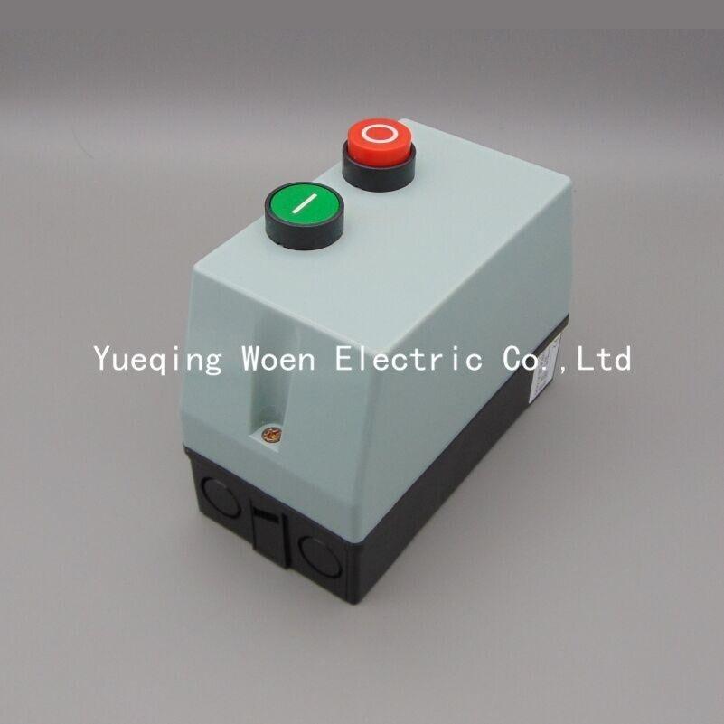 Acionador de partida magnético QCX5-12 caso plástico interruptor de partida do motor QCX2-12 protetor do motor 12a