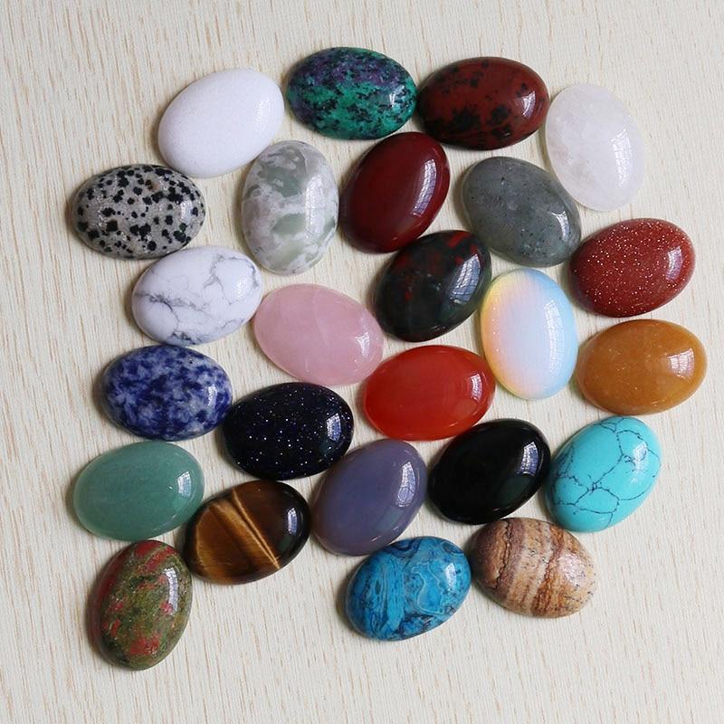 Оптовая продажа, 18 мм * 25 мм, высокое качество, натуральный овальный камень, кабошоны, бисер, сделай сам, кольцо для изготовления ювелирных из...
