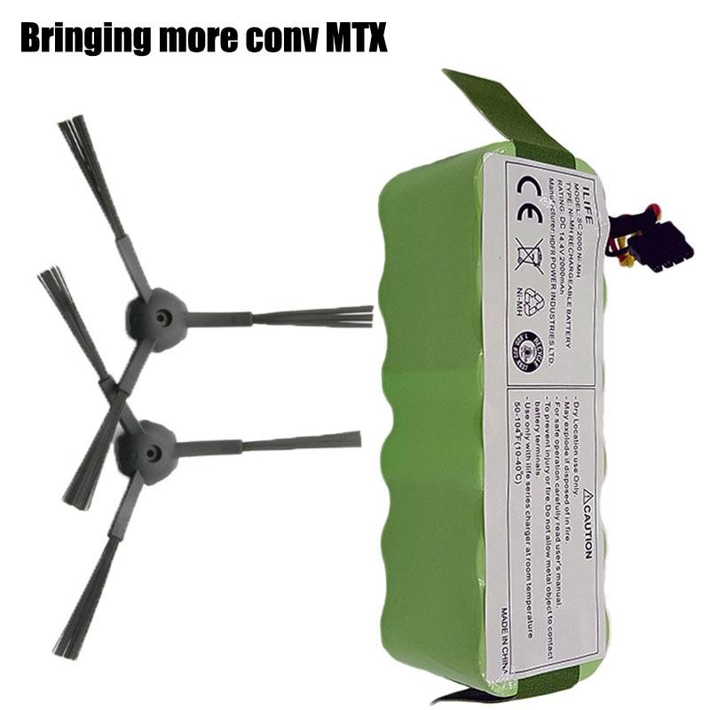 EIN pinsel + Ecovacs NI-MH 3500 mAH 14,4 V Batterie für Kitfort KT504 Haier T322 T321 T320 T325 robotic Vakuum staubsauger Teile Zubehör