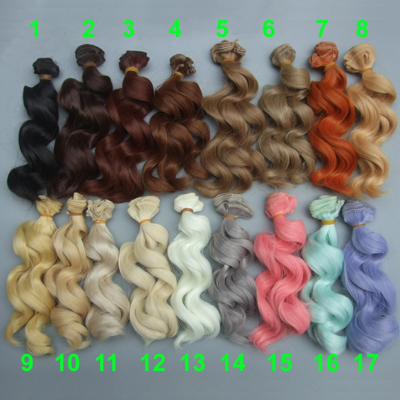 Термостойкие кукольные волосы 15 см для 1/3 1/4 1/6 BJD, diy парики с волнистыми волосами для кукол, бесплатная доставка