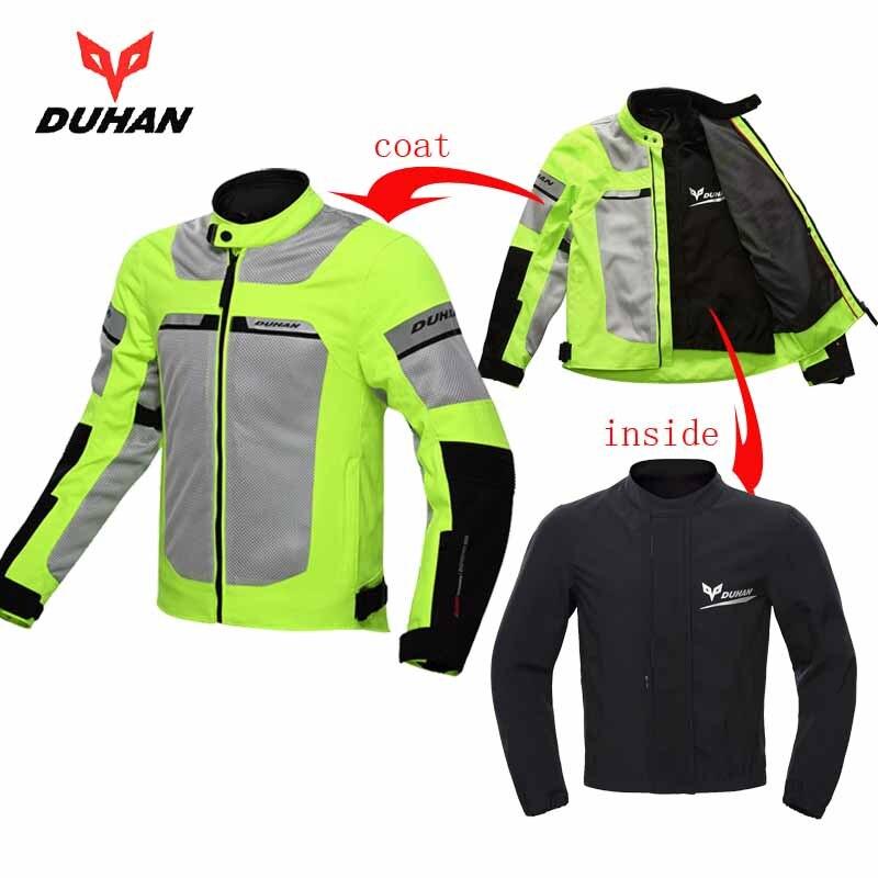 2018 NOVEDAD DE VERANO DUHAN país moto rcycle chaqueta hombres chaqueta de moto de carreras chaquetas lucha abrigo de motocicleta D-133 tamaño M L XL XXL