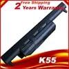 מחשב נייד סוללה עבור Asus K55 K55A K55D K55DE K55DR K55N K55V K55VD K55VM K55VS מחשב נייד סוללה עבור Asus A32-K55 A33-K55 a41-K55