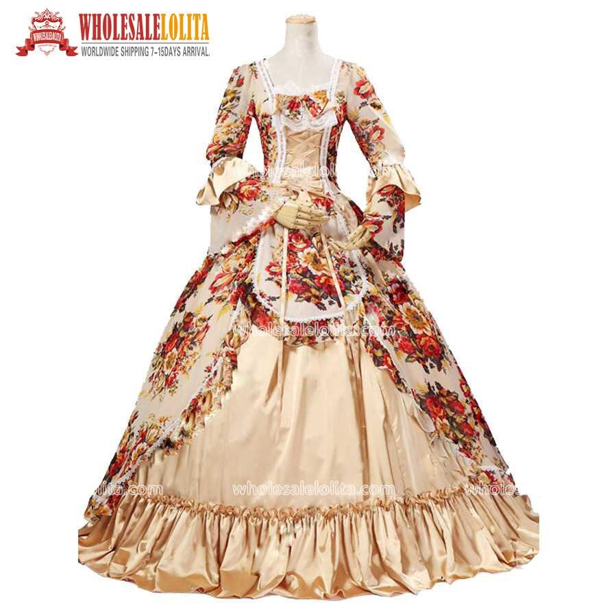 La mejor venta del siglo XVIII rococó/moda georgiana María Antonieta victoriana Jacquard Renacimiento