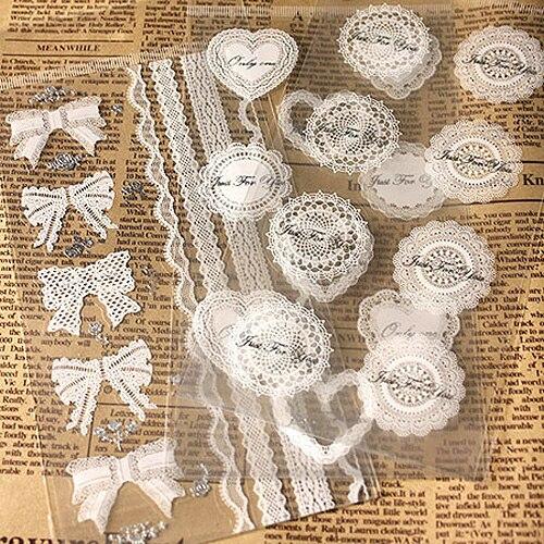 30 pacotes/lote laço branco e estilo dourado transparente adesivo de vedação kraft etiqueta cozimento diy trabalho presente caixa adesivos