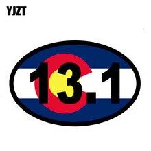 YJZT 15,7 CM * 10,2 CM Marathon Colorado Flagge Lustige 13,1 Run Jog Auto Aufkleber Aufkleber 6-1136