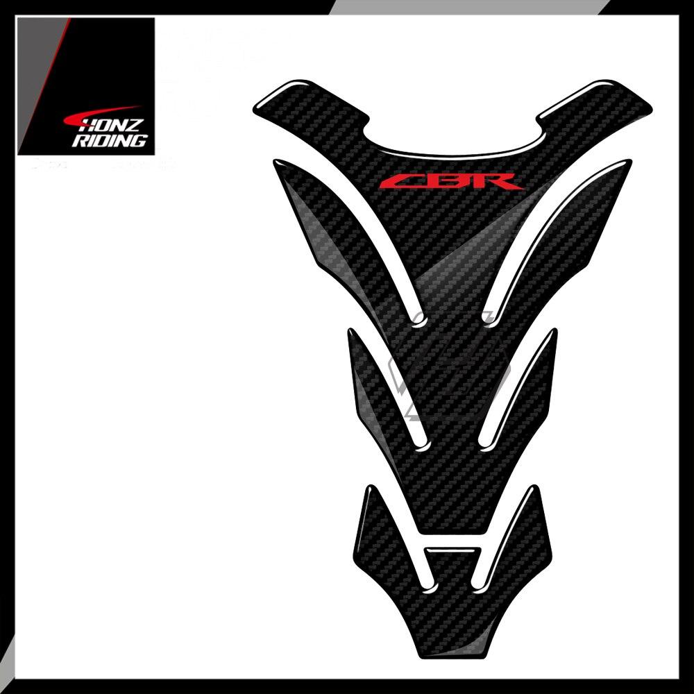 Para Honda CBR 600, 900 de 1000 Tankpad 3D de carbono de la motocicleta tanque Protector pegatinas