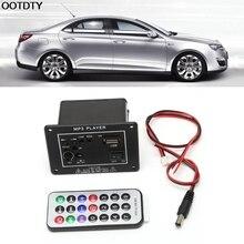 OOTDTY-caisson de basses 20W cc 12V   Bluetooth pour voiture, panneau damplification Hi-Fi TF USB + télécommande
