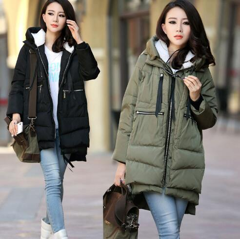 Maternity winter coat Military Long Loose Hooded Fashion Thicken Down Coat for Pregnant Women Pregnancy Coats Outerwear Jackets enlarge