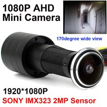 SONY IMX323 2MP сенсор 1080P дверной глазок отверстие AHD мини глазок рыбий глаз камера StarLight 0.001Lux 170 градусов камера наблюдения