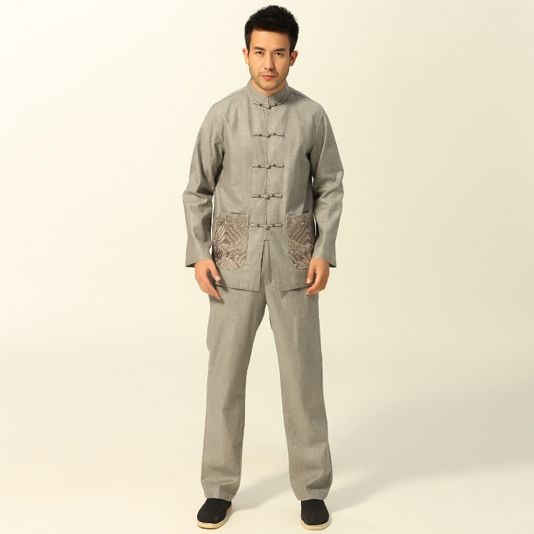 Traje tradicional chino Kungfu traje de ropa de chaqueta de traje de chaqueta talla S a 3XL