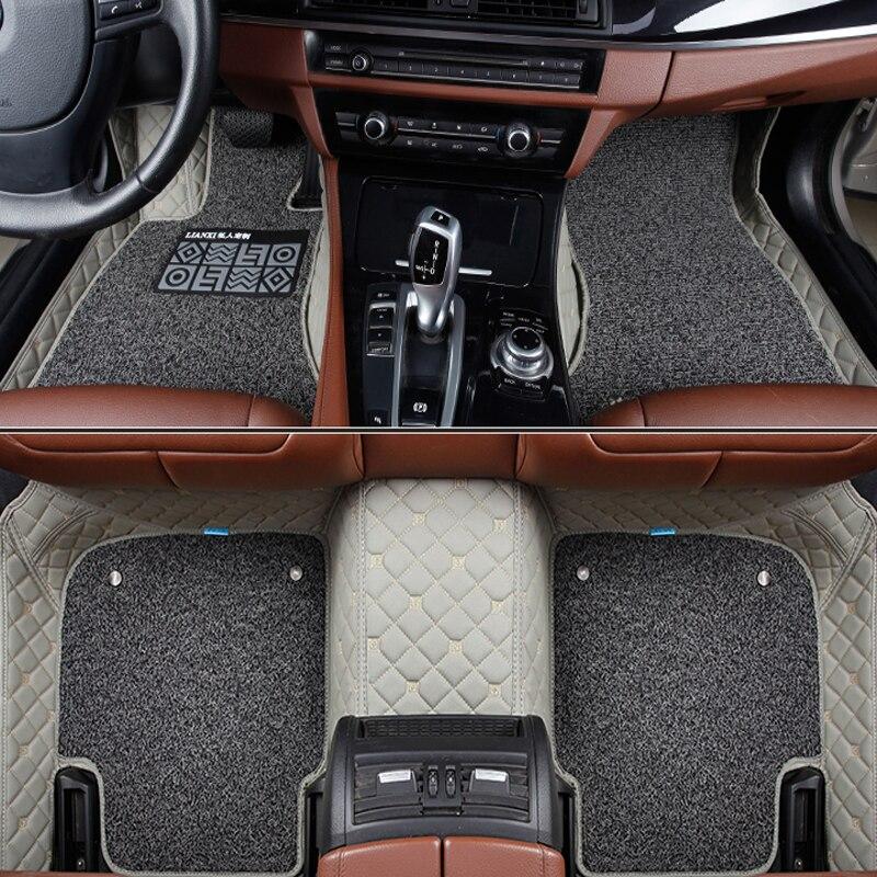 Alfombrillas de coche para geely emgrand EC715 EC718 EC7 EC8 EC9 MK Eagle GC7 GC9 GX2 GX7 NL accesorios de coche estera de pie personalizada para coche